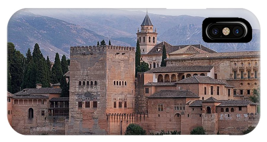 Alhambra IPhone X Case featuring the photograph Twilight At The Alhambra by Stephen Taylor