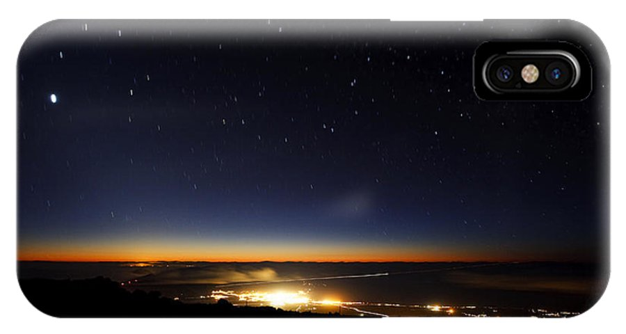 Below IPhone X Case featuring the photograph Twilight from Haleakala Summit by MakenaStockMedia - Printscapes