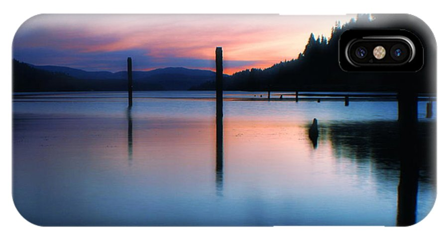 Dusk IPhone X Case featuring the photograph Twilight by Idaho Scenic Images Linda Lantzy