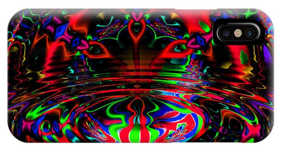 Fratal IPhone X Case featuring the digital art Twilight by Robert Orinski