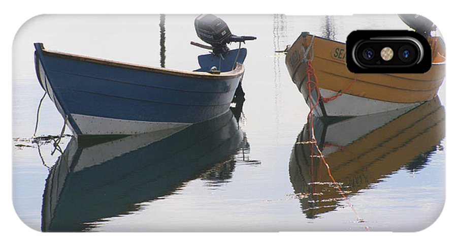 Boat IPhone X Case featuring the photograph Twin Boats by Frederic Durville