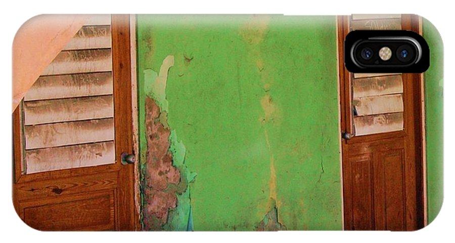 Doors IPhone X Case featuring the photograph Twin Doors by Debbi Granruth