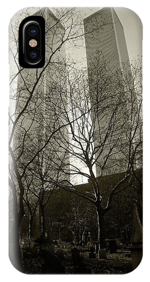 World Trade Center IPhone X Case featuring the photograph Twin Towers by Steve Williams
