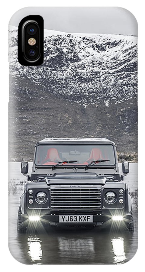 4180a532f8 Land Rover IPhone X Case featuring the photograph Twisted Land Rover  Defender by George Williams