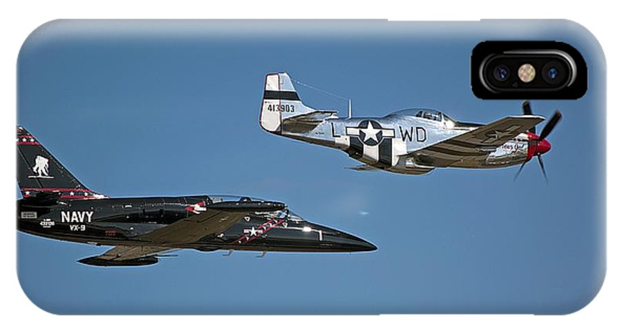 Airplane IPhone X / XS Case featuring the photograph Two Generations Of Aircraft by Kenneth Albin