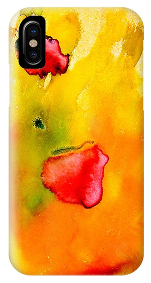 Two Love In One IPhone X Case featuring the painting Two Love In One by Petra Olsakova