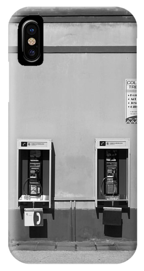 Pay IPhone X Case featuring the photograph Two Pay Phones by Perry Webster