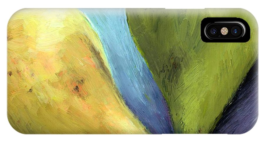 Pear IPhone Case featuring the painting Two Pears Still Life by Michelle Calkins