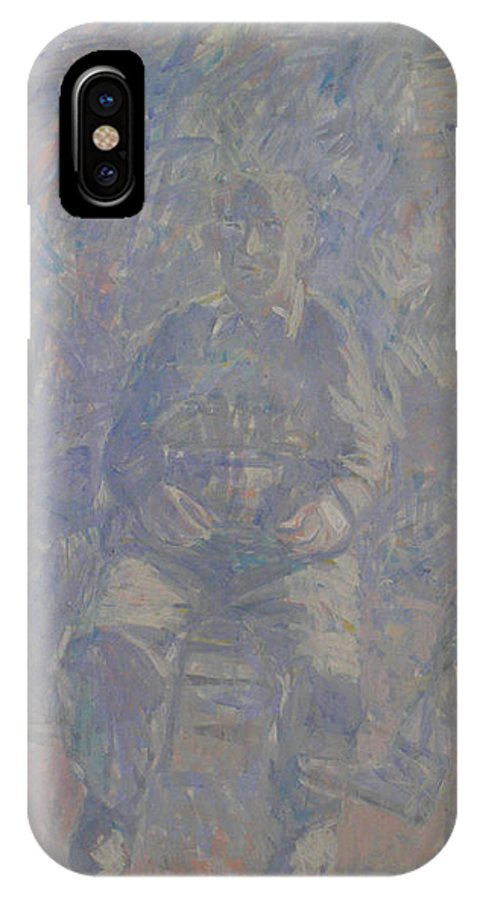 People IPhone X Case featuring the painting People by Robert Nizamov