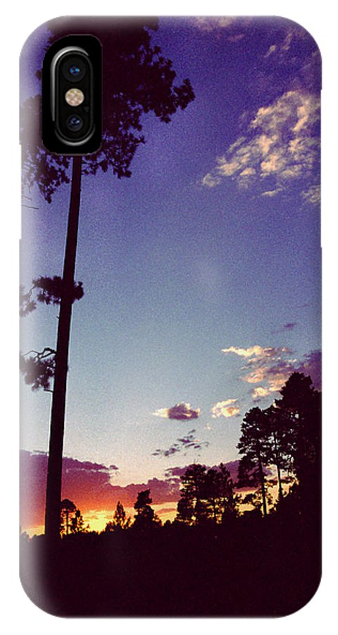 Arizona Sunset IPhone X Case featuring the photograph Two Pines Sunset by Randy Oberg