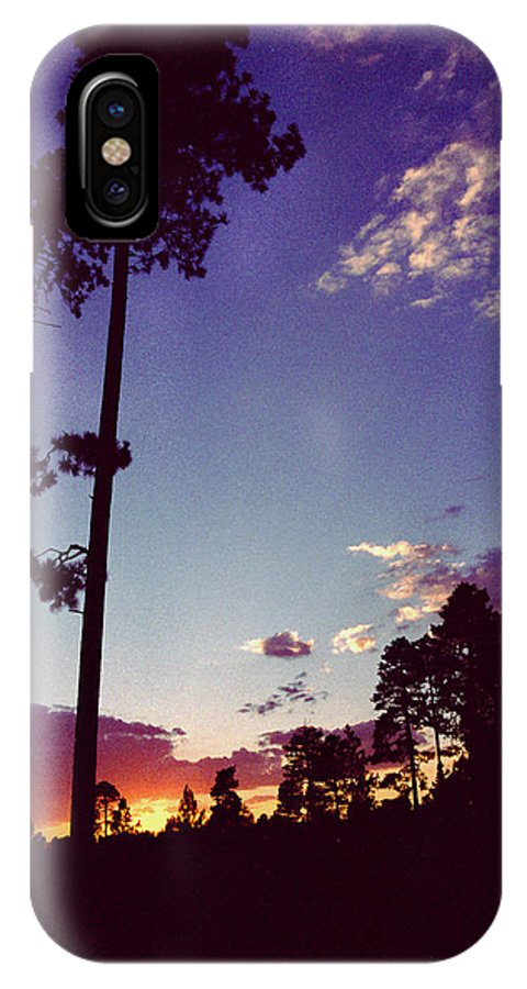 Arizona Sunset IPhone X / XS Case featuring the photograph Two Pines Sunset by Randy Oberg