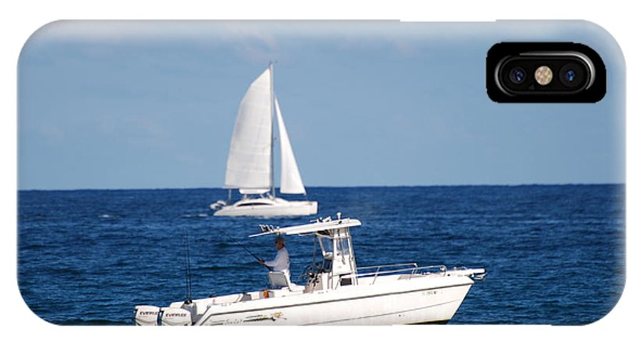 Sea Scape IPhone X / XS Case featuring the photograph Two Ships That Pass Thru The Day by Rob Hans