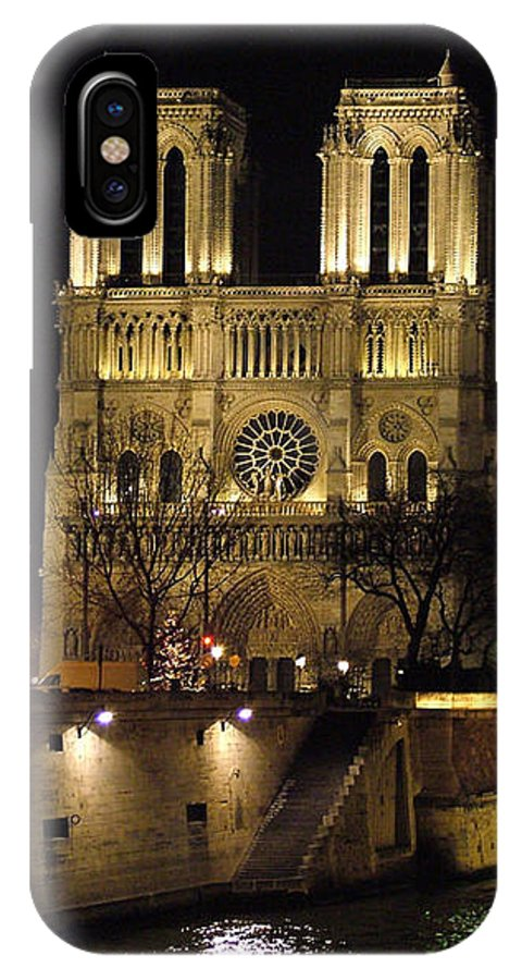 Two IPhone Case featuring the photograph Two Towers Of Notre Dame by Donna Corless
