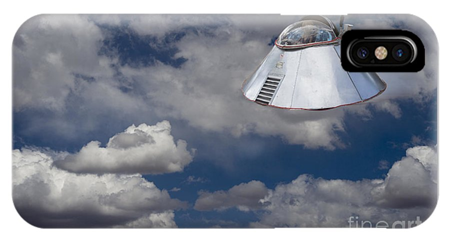 Ufo IPhone X Case featuring the photograph Ufo Sighting by Tim Hightower