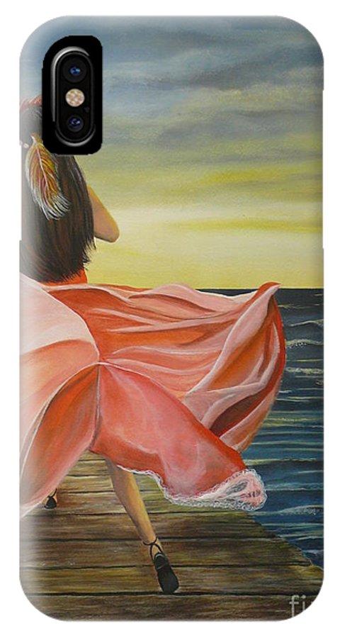 Sunset IPhone X Case featuring the painting Uhane O Ka Welo by Kris Crollard