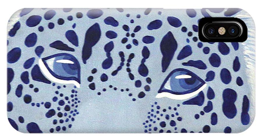 Ultramarine Jaguar IPhone X Case