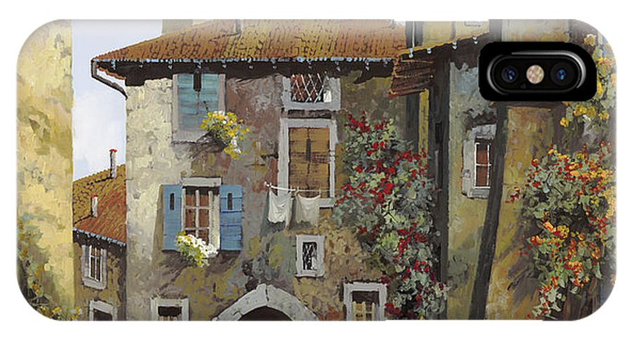 Umbria IPhone X Case featuring the painting Umbria by Guido Borelli