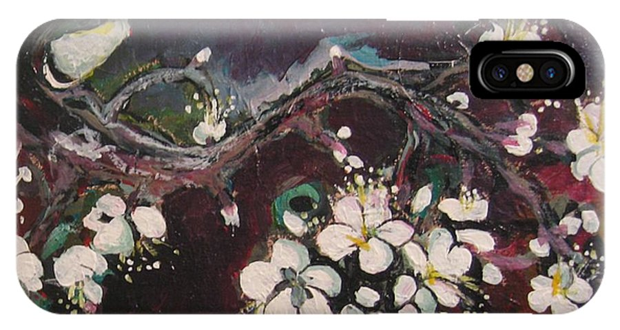Ume Blossoms Paintings IPhone Case featuring the painting Ume Blossoms by Seon-Jeong Kim