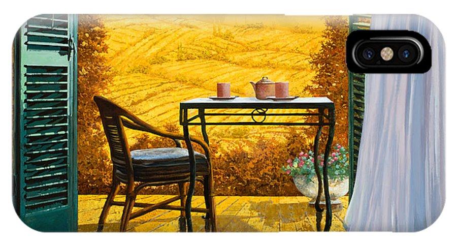 Terrace IPhone X Case featuring the painting Un Caldo Pomeriggio D by Guido Borelli