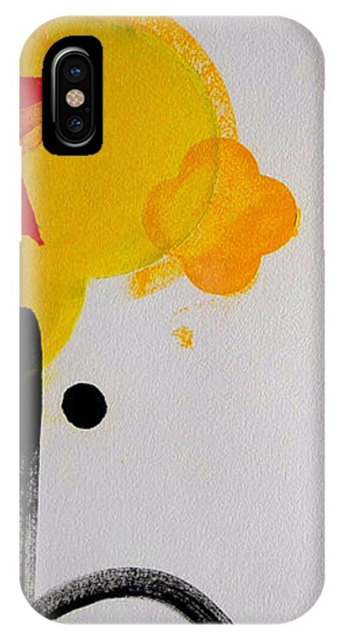 Drawing IPhone X Case featuring the painting UN by Charles Stuart