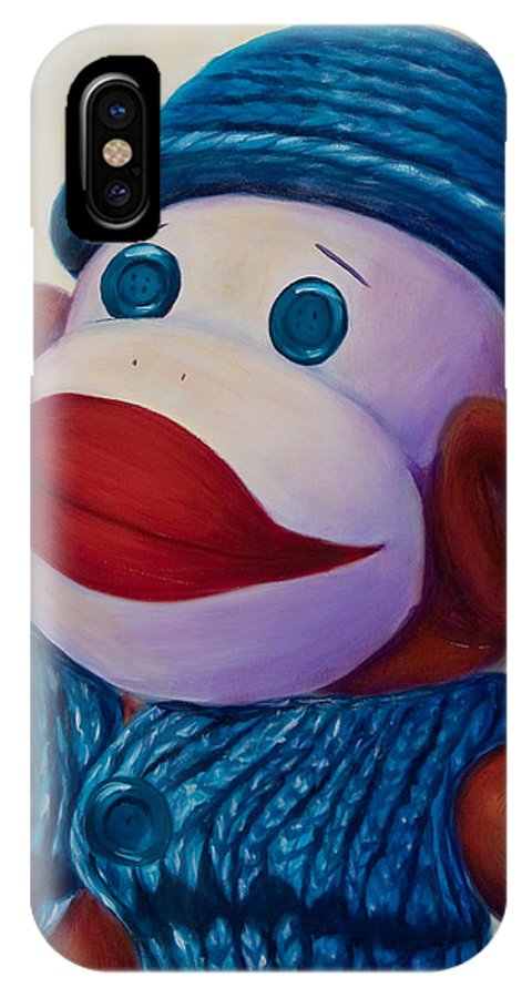 Children IPhone X Case featuring the painting Uncle Frank by Shannon Grissom