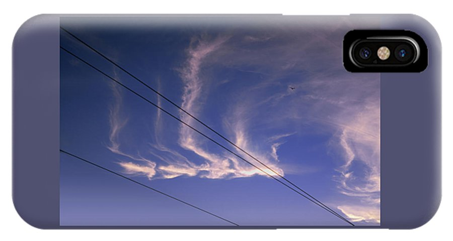 Cloud IPhone X / XS Case featuring the photograph Uncommon Trail by Daniel Furon