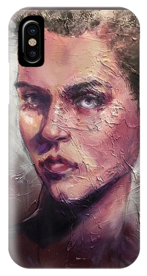 IPhone X Case featuring the painting Uncovered Beauty by Tessa Moeller