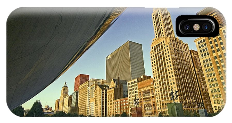 Bea IPhone Case featuring the photograph Under The Bean And Chicago Skyline by Sven Brogren
