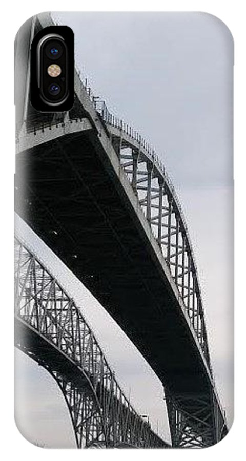 IPhone X Case featuring the photograph Under The Blue Water Bridge by Patty Robbins