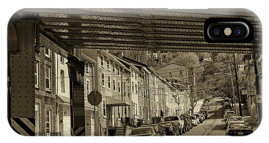 Manayunk IPhone X Case featuring the photograph Under The El At Manayunk 1 by Jack Paolini