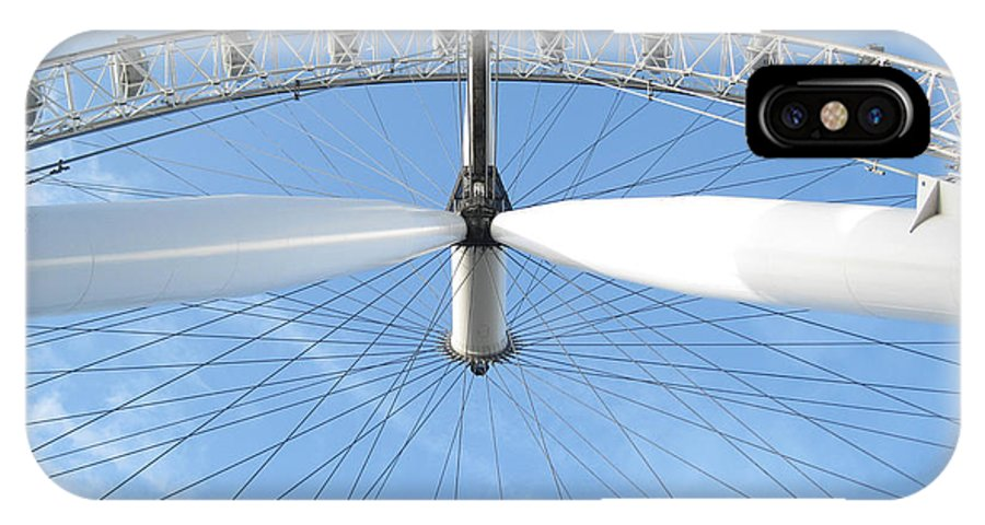 21stcenturymonk.com IPhone X Case featuring the photograph Under The London Eye by Ben Kamble