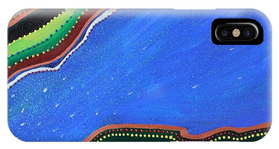 Underwater IPhone X Case featuring the painting Under The Sea by Zoe Vega Questell