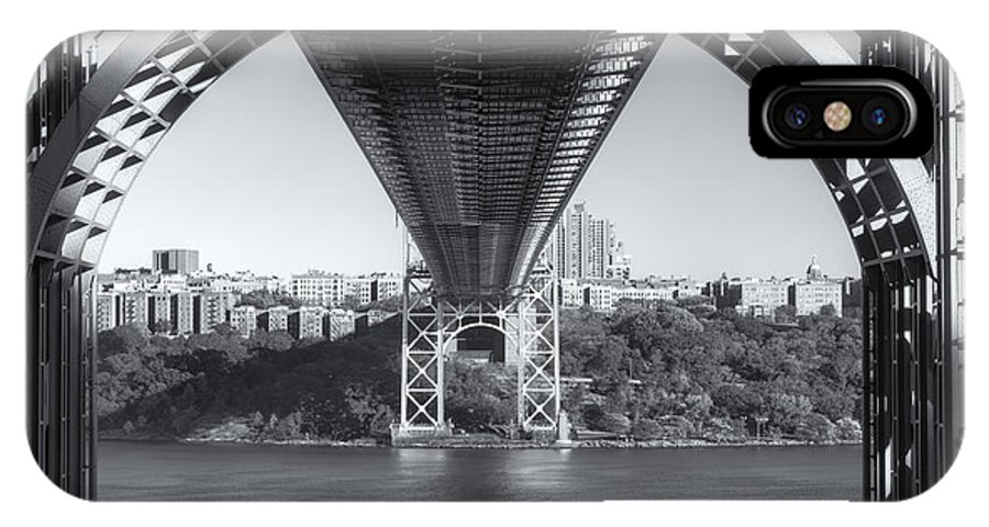 Clarence Holmes IPhone X / XS Case featuring the photograph Underneath The George Washington Bridge IIi by Clarence Holmes