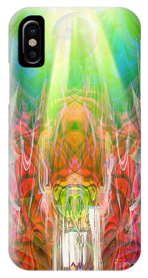 IPhone X / XS Case featuring the digital art Unelanuhi-sungoddess by Rich Baker