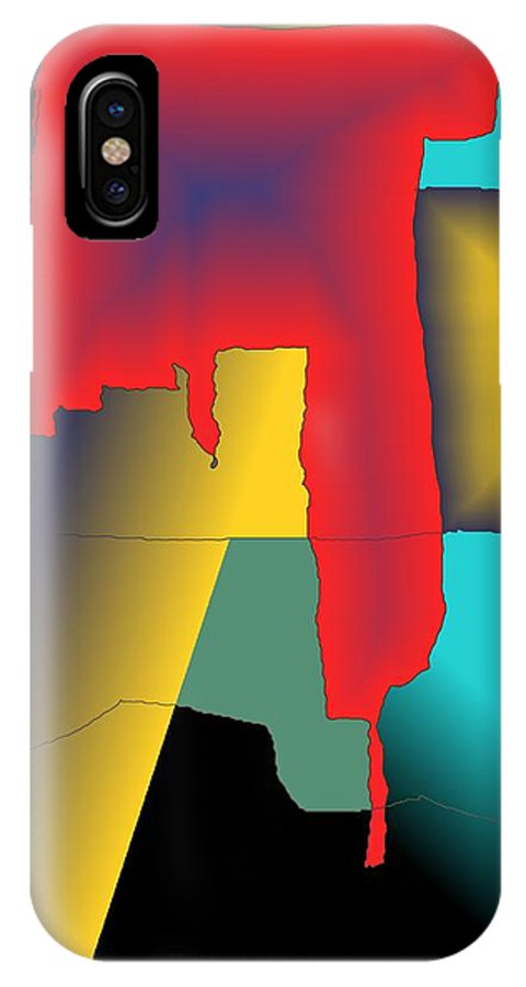 Red IPhone X Case featuring the digital art Unexpected- Red by Helmut Rottler