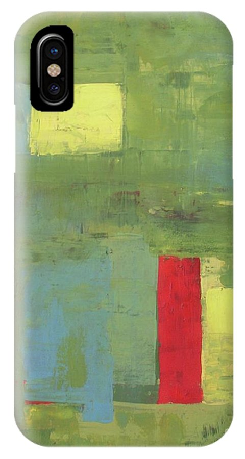 Abstract IPhone X Case featuring the painting Unico by Vesna Antic