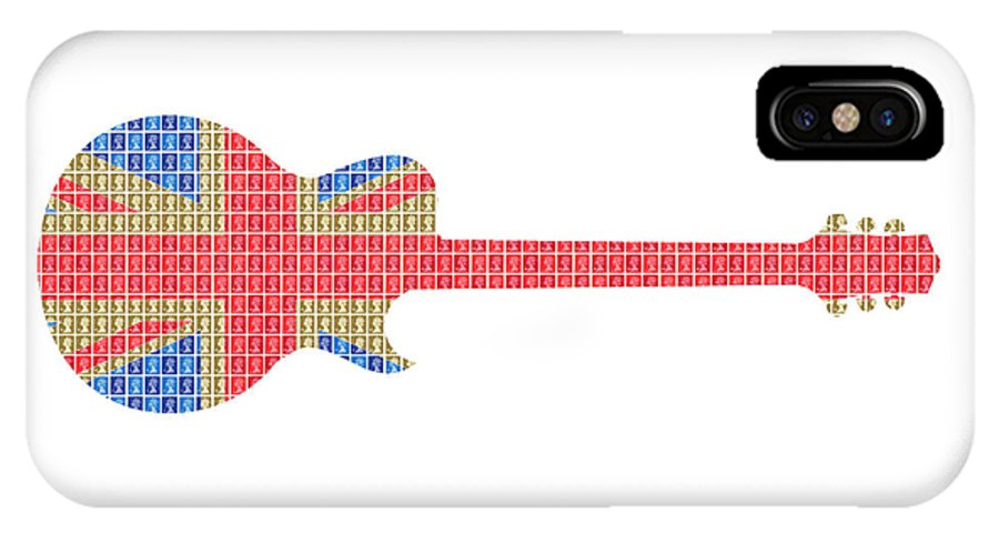Guitar IPhone X / XS Case featuring the painting Union Guitar by Gary Hogben