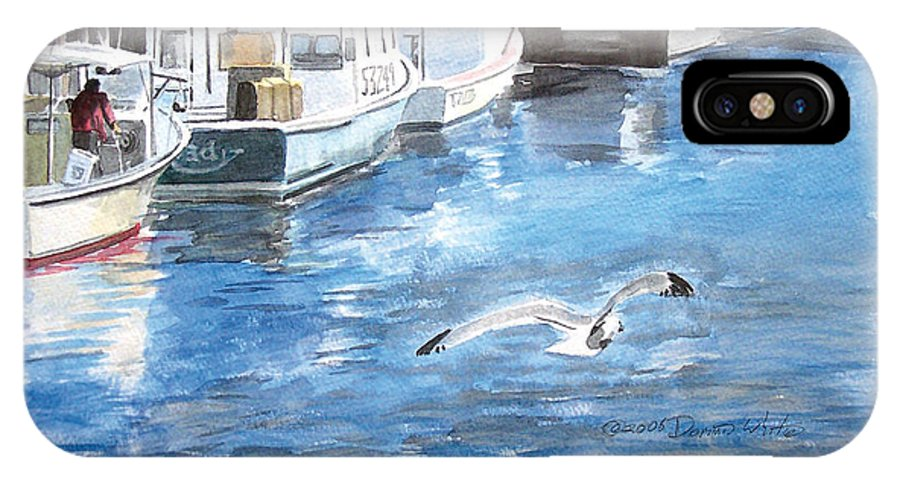Seagull IPhone Case featuring the painting Union Wharf by Dominic White