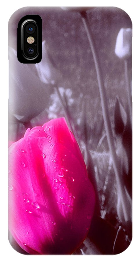 Flower IPhone X Case featuring the photograph Uniqueness by Kenneth Krolikowski