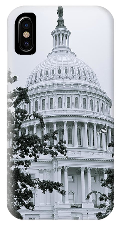 Capital IPhone X Case featuring the photograph United States Capital by Bob Mintie