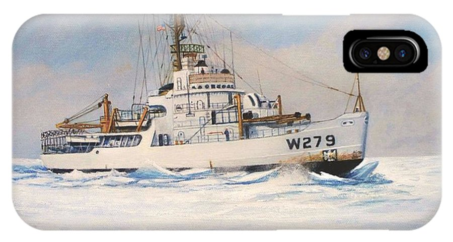 Marine Art IPhone X Case featuring the painting United States Coast Guard Icebreaker Eastwind by William H RaVell III