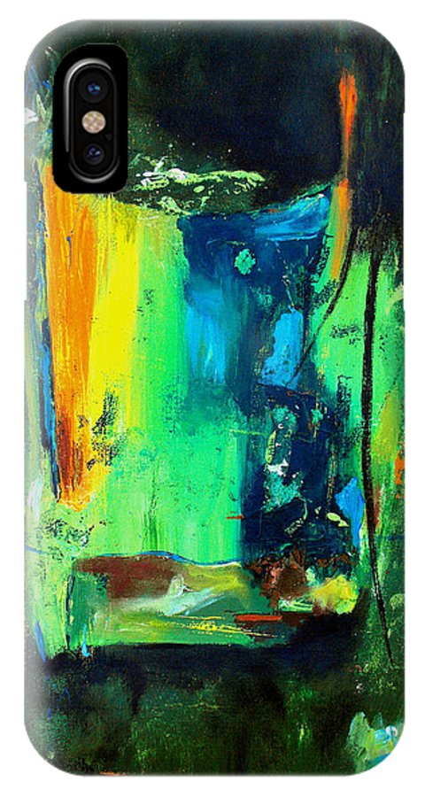 Abstract IPhone X Case featuring the painting Unity In The Body by Ruth Palmer