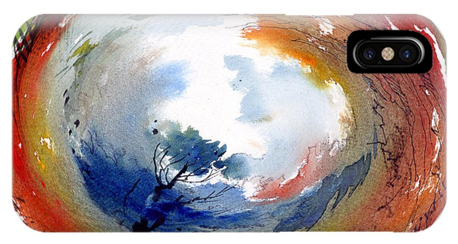 Landscape Water Color Watercolor Digital Mixed Media IPhone X Case featuring the painting Universe by Anil Nene