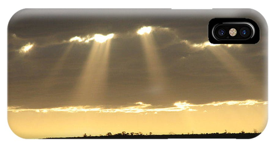 Hills IPhone X Case featuring the photograph Universe Light by Leandro Sebastian  Marquez