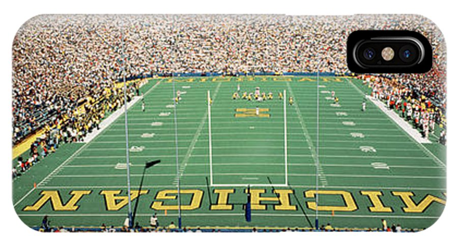 Photography IPhone X Case featuring the photograph University Of Michigan Stadium, Ann by Panoramic Images