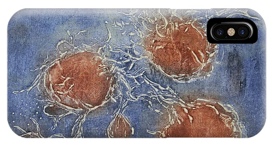 Biology IPhone X Case featuring the mixed media Unknown Life Forms 1 by Pati Hays