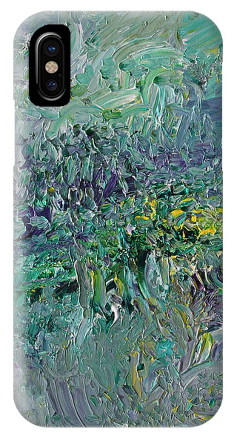 Fusionart IPhone X Case featuring the painting Blind Giverny by Ralph White