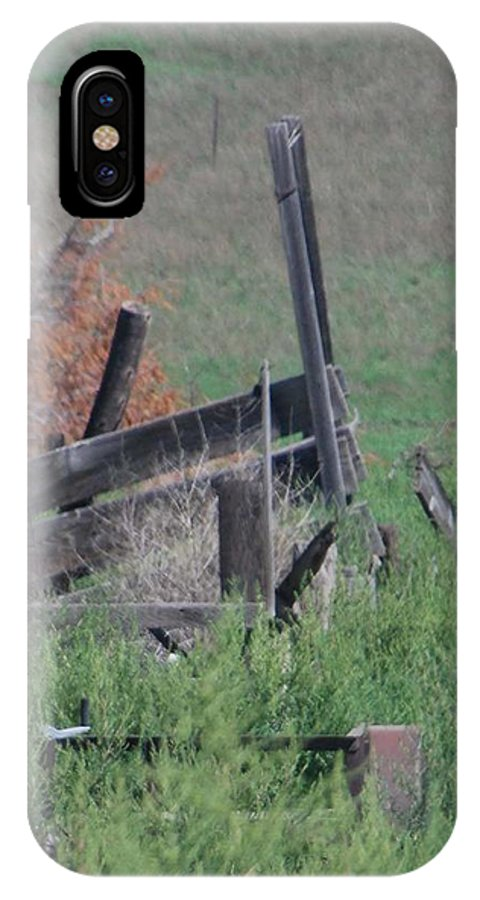 Farm IPhone X Case featuring the photograph Untended Fences by Margaret Fortunato
