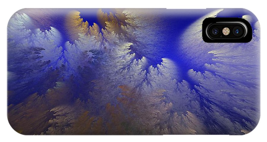 Abstract Digital Painting IPhone X Case featuring the digital art Untitled 11-1-09 by David Lane