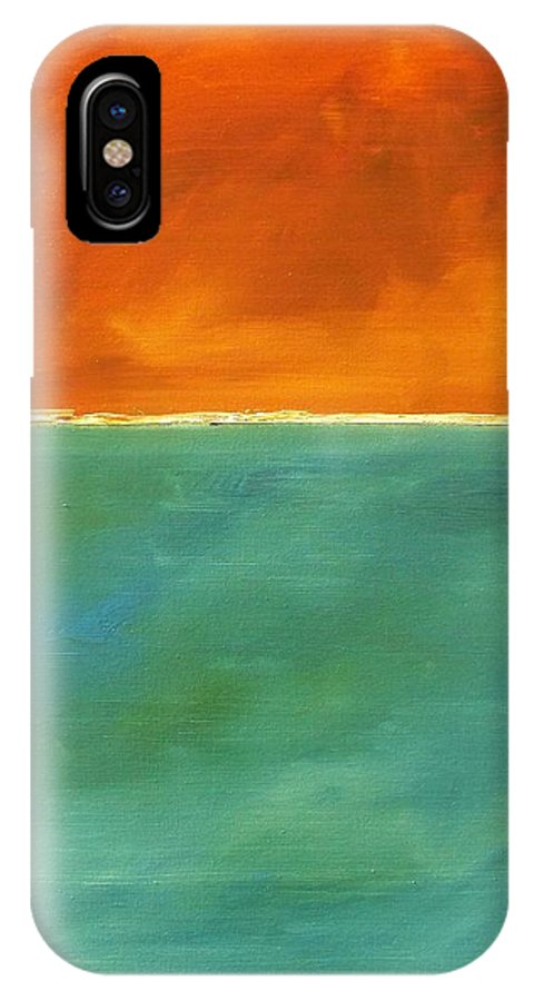 Art IPhone X Case featuring the painting Untitled, Abstract by RB McGrath